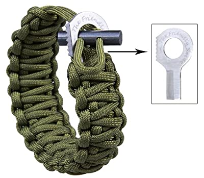 The Friendly Swede Adjustable Premium Paracord Bracelet with Fire Starter and Sharp Eye Knife. from The Friendly Swede