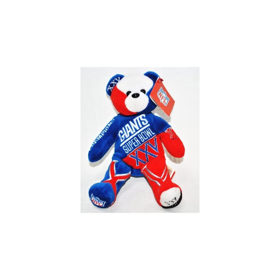 New York Giants vs Buffalo Bills RARE Offical NFL Super Bowl XXV(25) Collectable Plush Bear