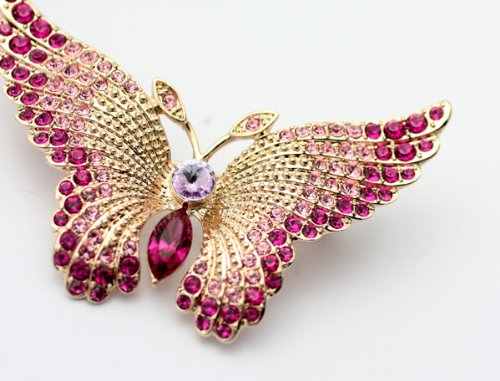 Austrian Swarovski Crystal Fashion Lady Pin Brooch -Beautiful and The Highest Quality Austrian Crystal with Elegant Butterfly Design6 cm W x 4 cm H Comes With Free Swarovski Jewelry Box,Attractive and Gorgeous . Super Saving w/100% Satisfaction Guaranteed ! A Great Gift For Your Friends or Loved Ones.