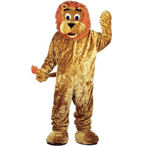 STD Unisex Lion Mascot Costume for Animal Fancy Dress