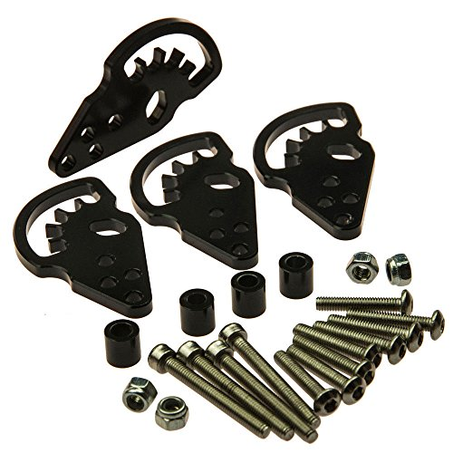 Jack-Store Adjustable Aluminum Shock Lift Kit For 1/10 RC Crawler Cars AXIAL SCX10 Black (Lift Kit Rc compare prices)