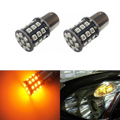 JDM ASTAR Super Bright AX-2835 Chipsets 1156 1141 1073 3496 7506 LED Bulbs for Turn Signal,Amber Yellow