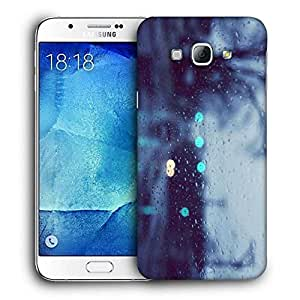 Snoogg Water Drops On The Window Printed Protective Phone Back Case Cover For Samsung Galaxy A8