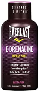 Everlast E-drenaline Energy Shot - Berry Rush, 6-Count