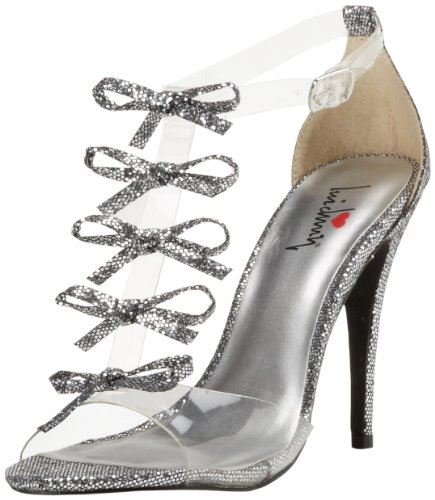 Luichiny Women'S Be Dazzled Sandal,Pewter,8.5 M Us