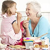 Jennis Measuring Cups and Spoons Easy Pour Child Safe Silicone