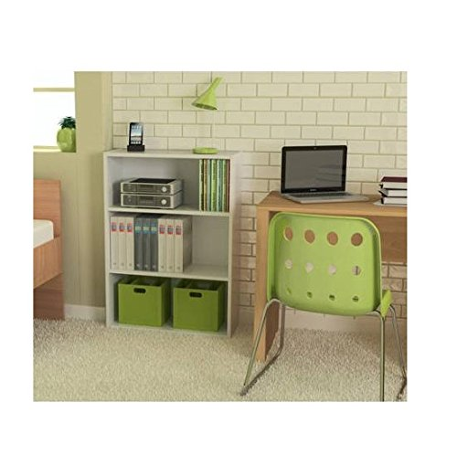 Ameriwood 3-shelf Bookcase, Multiple Finishes. Ideal for Dorm Room, Home Office, Living Room or Any Room. (White) Ameriwood 3 Shelf Bookcase