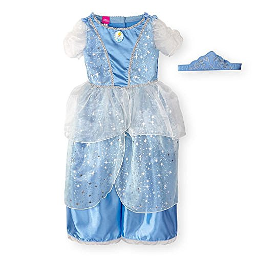 [Disney Girls 2 Piece Blue Cinderella Halloween Costume with Crown - 3 Toddler] (Babies R Us Toddler Halloween Costumes)