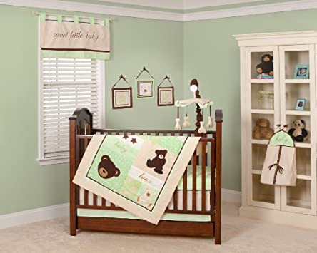 Vintage Pam Grace Creations Nursery To Go Piece Baby Bedding Set