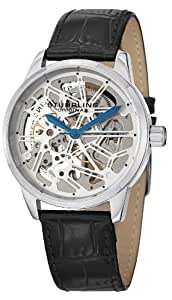 Stuhrling Original Men's 863.01 Leisure Star Chart Analog Display Mechanical Hand Wind Black Watch