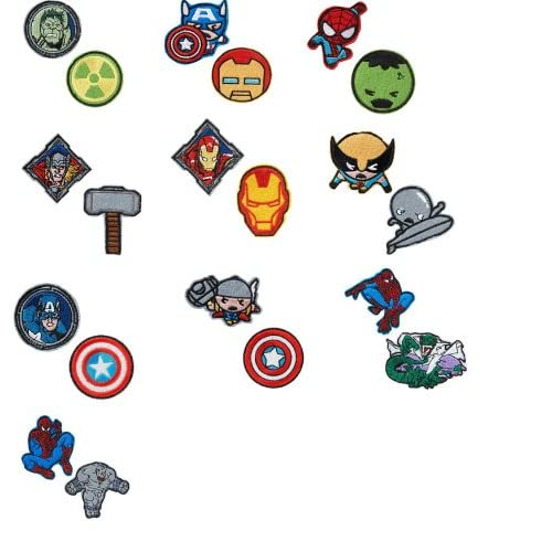 Gutzy Gear Marvel Comics Superhero Patches-Avengers-Spiderman-Kawaii
