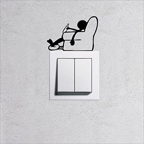 wandtattoo f r steckdose lichtschalter m nnchen seesel feierabend viele farben zu auswahl. Black Bedroom Furniture Sets. Home Design Ideas