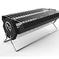Grekitchen BBQ & Charcoal Foldable and Portable Outdoor Grill with Carry Bag