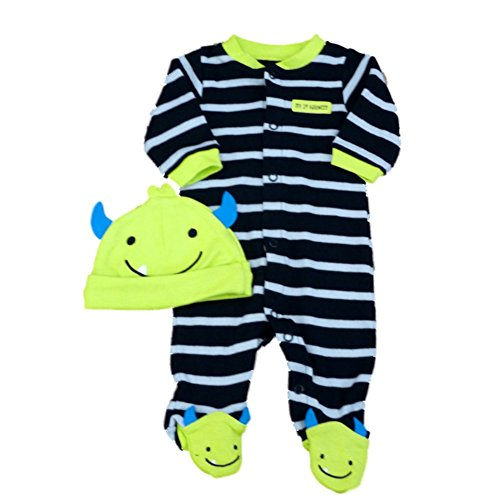 Carters Infant Boys My 1st Halloween Sleeper & Hat Set Monster Sleep & Play