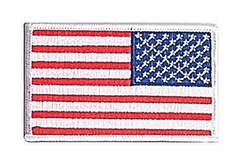 Rothco Reverse Us Flag Patch, White Border, 2'' x 3''