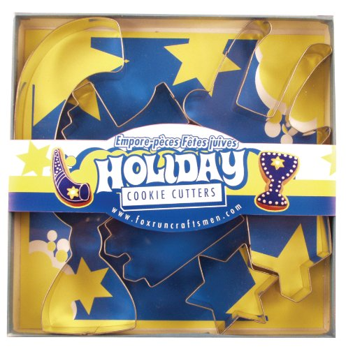 Fox Run Jewish Holiday Cookie Cutter Set