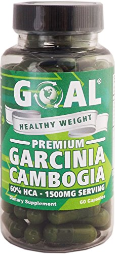 GOAL Healthy Weight – Premium Garcinia Cambogia 60 Capsules – Contains 1500mg of 60% HCA Pure Garcinia Cambogia Extract Per Serving – Best Weight Loss Supplement Natural Belly Fat Burners Diet Pills Complex Products that Really Works Fast for Women and Men Energy Boosters Pills