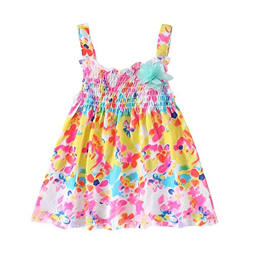 Baby Girls' Summer Cool Floral Slip Dress, 18-24 months(XL)