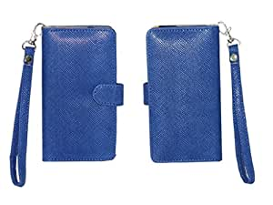 Jo Jo A9 Anya Leather Carry Case Cover Pouch Wallet Case For Elephone P6000 Exotic Blue