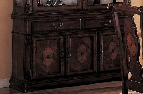 Cheap Server Sideboard with Carved Detail Brown Finish (VF_AZ00-45368×28759)