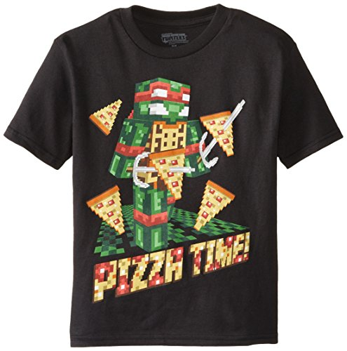 Teenage Mutant Ninja Turtles Little Boys' TMNT Raphael Pixelated Pizza Time Tee