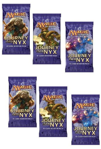6 (Six) Packs Of Magic: The Gathering - Mtg: Journey Into Nyx Booster Pack Lot (6 Pack Lot) front-471355