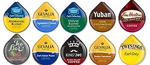 10 TASSIMO® T-Disc Variety Sampler! 10 unique varieties! Tim Horton's, kenco, Tea Bar, Jacobs, Gevalia ++