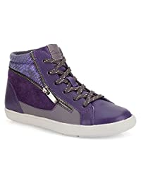 Clarks Girl's Zita Snake Zip Lace Up Fashion Sneakers