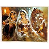 "Dolls Of India ""Banjara Beauties"" Reprint On Paper - Unframed (29.21 X 23.50 Centimeters)"