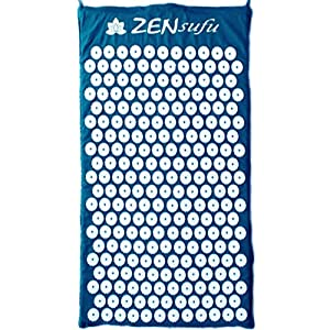 Zensufu Acupressure Massage Mat for Back Massage with Carry Bag