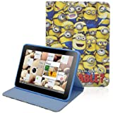 ESGO Despicable Me Minion (Both the front and the same picture) Cute Synthetic Leather Case + Soft TPU Cover Skin For Apple Ipad Mini