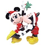 Westland Giftware Magnetic Ceramic Salt and Pepper Shaker Set, 4.25-Inch, Disney Mickey and Minnie Mistletoe, Set of 2