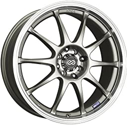 Enkei J10, Performance Series Wheel, Silver (16×7″ – 5×112 & 5×114.3, 38mm Offset) 1 Wheel/Rim