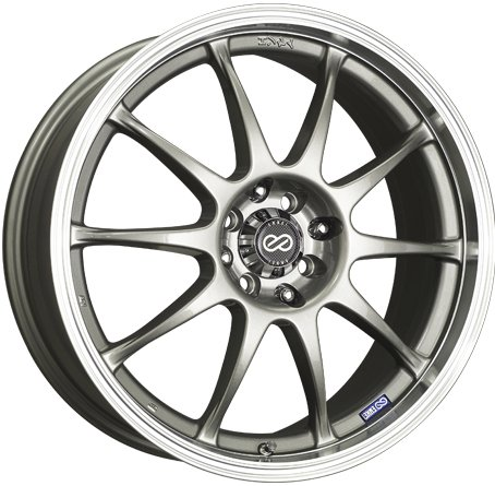 16x7 Enkei J10 (Silver w/ Machined Lip) Wheels/Rims 5x100/114.3 (409-670-12SP) (Daytona Rims 5x5 compare prices)