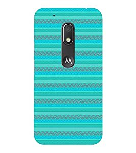 EPICCASE ethnic lines Mobile Back Case Cover For Moto Play (Designer Case)