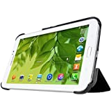 MoKo Ultra Slim Lightweight Smart shell Stand Case for Samsung Galaxy Tab 3 7.0 inch SM T2100 / SM T2110 Android Tablet, BLACK