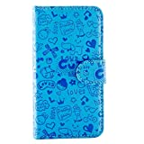 Purple Eyes Generic Cute Abc Flip Cover Case Pouch For Sony Xperia Zr M36H Blue