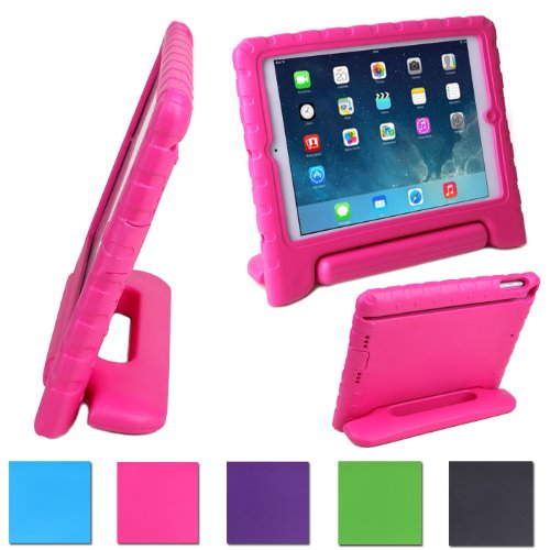 Hde Kids Light Weight Shock Proof Handle Case For Ipad 2/3/4 (Hot Pink) front-570515