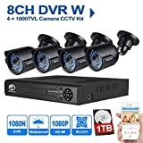 JOOAN 604DVR-4Y-1T 8CH 1080N DVR Recorder with 4x 1000TVL Weatherproof Bullet Camera Security System with 1TB Hard Drive - Best Reviews Guide