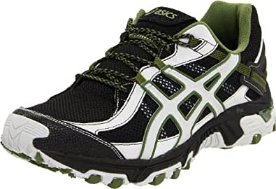ASICS Men's GEL-Trabuco 14 Running Shoe,Black/Cement/Army,10.5 M US
