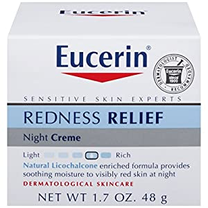 Eucerin Redness Relief Soothing Night Creme, 1.7 Ounce