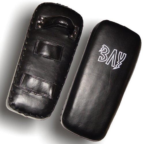 """BAY® LEDER """"Thai Tech"""" Arm Schlagpolster, schwarz, Makiwara, Armpratze, Kick Punch Muay Thai Pad, Kickboxen, Thaiboxen, MMA K1 K-1 Schlagmitt Pratze Pratzen Armschlagpolster Thaipad Schlagkissen Armpratzen Armpolster UFC Free Fight"""