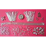 Jewellery Making Beginer Starter Kit - Silver Coloured - Ideal gift party activity or top up