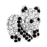 OMYGOD Small crystal panda brooch - 1.75cm x 1.5cm