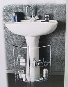 Meuble astucieux - Etagere 2 niveaux sous - lavabo