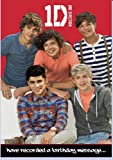 Official One Direction (1D) Birthday Card -With Recorded Message By 1D