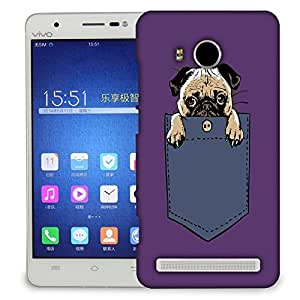 Snoogg Cute Pug Designer Protective Back Case Cover For VIVIO X SHOT