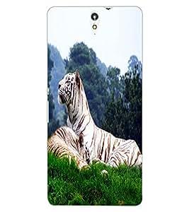 ColourCraft White Tiger Design Back Case Cover for SONY XPERIA C5 E5553 / E5506