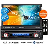 1DIN Autoradio avec système de navigation, Bluetooth, Lecteur DVD et USB / SD-Fonction CREATONE V-7260DG