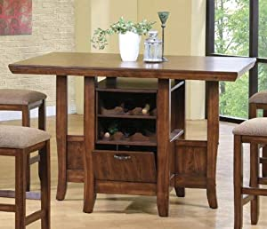 mission oak counter height kitchen island